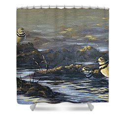 Spring Guests Shower Curtain