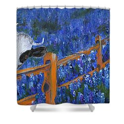 Shower Curtain featuring the painting Spring Has Sprung by Jamie Frier
