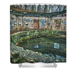 Spring House 2 - Paradise Springs - Kettle Moraine State Forest Shower Curtain by Jennifer Rondinelli Reilly - Fine Art Photography