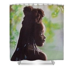 Spring In Africa Shower Curtain by Annemeet Hasidi- van der Leij