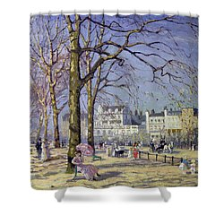 Spring In Hyde Park Shower Curtain by Alice Taite Fanner