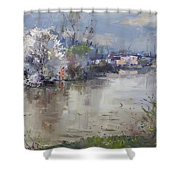 Spring In Hyde Park Shower Curtain by Ylli Haruni