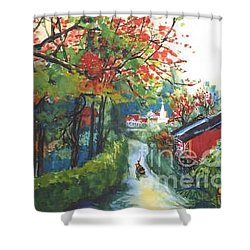 Spring In Southern China Shower Curtain by Guanyu Shi