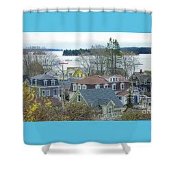 Spring In Maine, Stonington Shower Curtain by Christopher Mace
