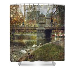 Spring In The Boston Public Garden Shower Curtain by Joann Vitali