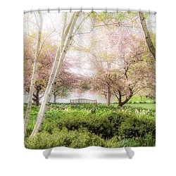 Spring In The Garden Shower Curtain by Julie Palencia