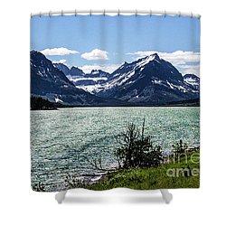 Many Glacier Shower Curtain