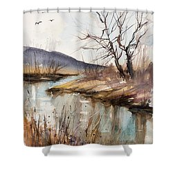 Spring Is Blushing Shower Curtain by Judith Levins