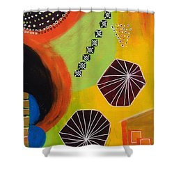 Squiggles And Wiggles #5 Shower Curtain