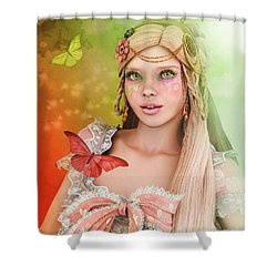 Shower Curtain featuring the digital art Spring Is In The Air by Jutta Maria Pusl