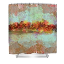 Shower Curtain featuring the digital art Spring Is Near by Jessica Wright