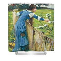Spring Shower Curtain by John William Waterhouse