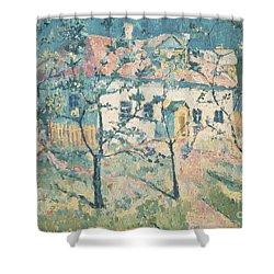 Spring Shower Curtain by Kazimir Severinovich Malevich