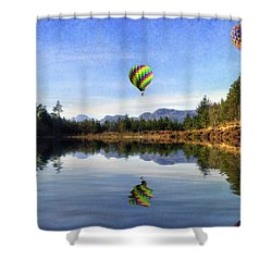 Spring Lake Shower Curtain by Ian Mitchell