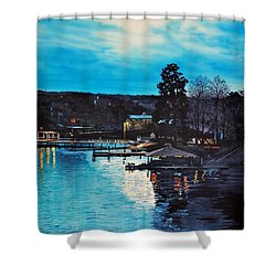 Spring Lake Nocturn Shower Curtain