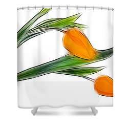 Spring Messenger Shower Curtain