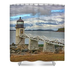 Shower Curtain featuring the photograph Spring Morning At Marshall Point by Rick Berk