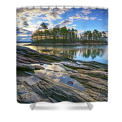 Spring Morning At Wolfe's Neck Woods Shower Curtain by Rick Berk