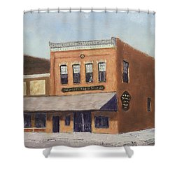 Spring Morning Downtown Shower Curtain