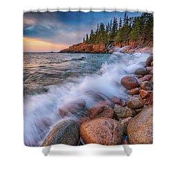 Spring Morning In Acadia National Park Shower Curtain by Rick Berk