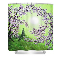 Spring Morning Meditation Shower Curtain