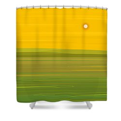 Shower Curtain featuring the digital art Spring Morning - Square by Val Arie