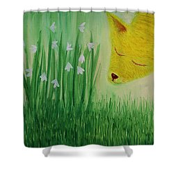 Shower Curtain featuring the painting Spring Morning by Tone Aanderaa