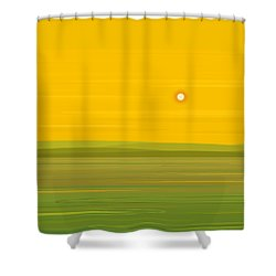 Spring Morning Shower Curtain by Val Arie