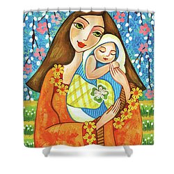 Spring Mother Shower Curtain