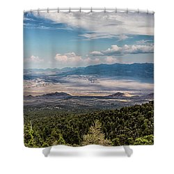 Shower Curtain featuring the photograph Spring Mountains Desert View by Michael Rogers