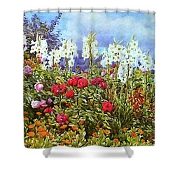 Shower Curtain featuring the photograph Spring by Munir Alawi