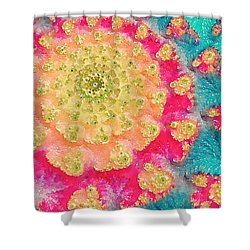Shower Curtain featuring the digital art Spring On Parade 2 by Bonnie Bruno