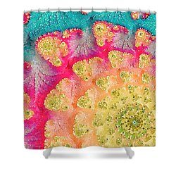 Shower Curtain featuring the digital art Spring On Parade by Bonnie Bruno