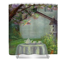 Spring Orchard Teatime Shower Curtain