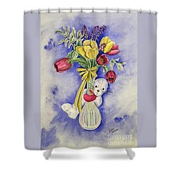 Spring Peek-a-boo I Love You Shower Curtain