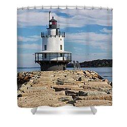 Spring Point Ledge Light Shower Curtain