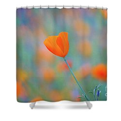 Spring Poppy Shower Curtain