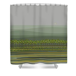 Spring Rain Reflections Shower Curtain