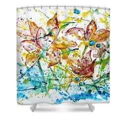 Spring Rhapsody Shower Curtain by Jasna Dragun