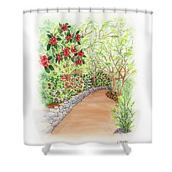 Spring Rhodies Shower Curtain