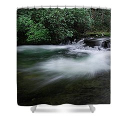Shower Curtain featuring the photograph Spring River by Mike Eingle