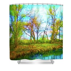 Spring River Rambling Shower Curtain