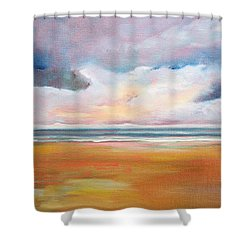Spring Skies Shower Curtain by Trina Teele