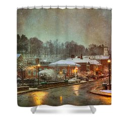 Spring Snow In Peterborough Nh Shower Curtain