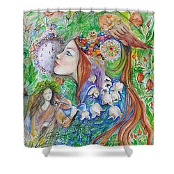 Spring Song Shower Curtain by Rita Fetisov