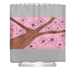 Spring Stained Glass 3 Shower Curtain