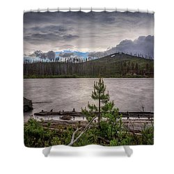 Shower Curtain featuring the photograph Spring Storm At Round Lake by Cat Connor