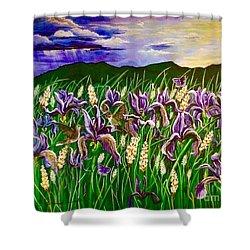 Spring Storm  Iris Fields Shower Curtain
