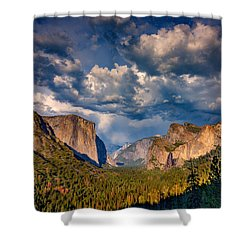 Spring Storm Over Yosemite Shower Curtain by Rick Berk