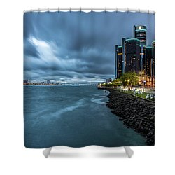 Storm Season In Detroit  Shower Curtain